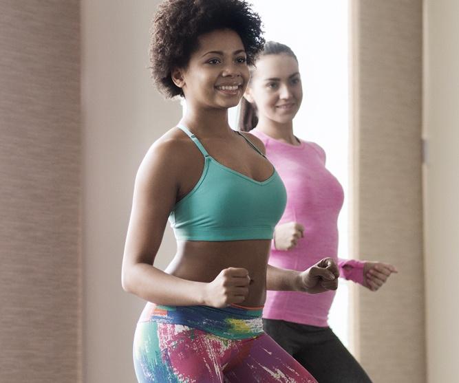 women doing Zumba workout